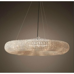 Ring crystal chandelier