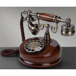 European Style Solid Wood Antique Telephone