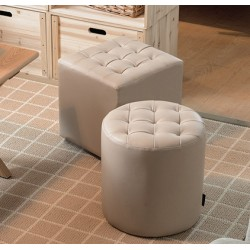 leather shoes stool