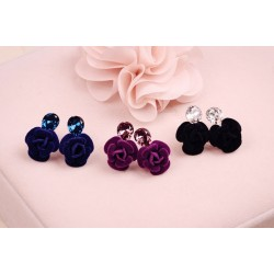 Crystal Rose Flower Earring