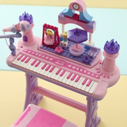 Baby toy piano with microphone
