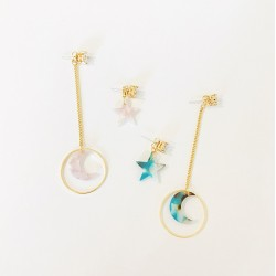 Cute Star Moon Earring