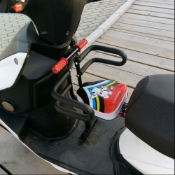 Motorcycle child seat front seat