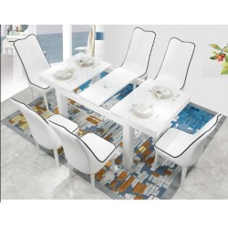 Retractable dining table and chair