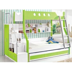 Children upper and lower bunk bed