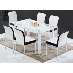 Simple modern dining table and chair
