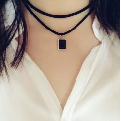 Double-Layer Velvet Leather Necklace