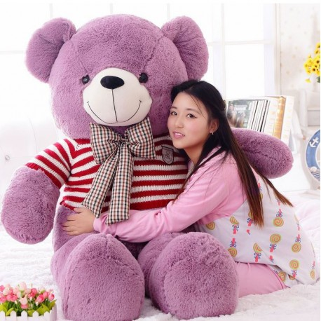 Gift Bear Large doll purple bear plush toy teddy bear hug panda doll puppy bear