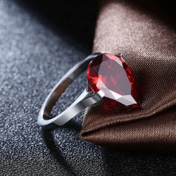 Red Drop Ring